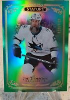 2019-20 UPPER DECK STATURE GREEN PARALLEL JOE THORNTON /149 SAN JOSE SHARKS SP