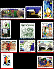 BRAZIL 2005 - LOT WITH 11 STAMPS OF THE YEAR - SCOTT VALUE $7.85, ALL MNH