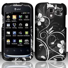 For Huawei AT&T Fusion 2 Rubberized HARD Case Snap Phone Cover White Flowers