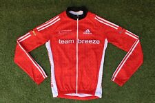 British Cycling Team Breeze Adidas Thermal Fleece LS Race Jersey Jacket ~ Small