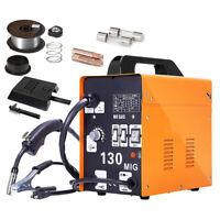 Pro 130 MIG Welder Flux Core Wire Automatic Feed Welding Machine w. Free Mask A+