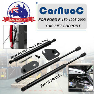 Fit For Ford F150 1995-2003 2Pcs Front Lift Supports + 1Pc Rear Damper Tailgate