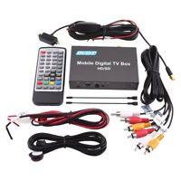 New DVB-T HD/SD Car Digital TV Box Analog Tuner 240km/h Strong Signal Receiver