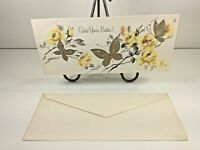 """Vintage Mid Century 1950's Greeting Card Religion """"Get Well"""" w Envelope"""