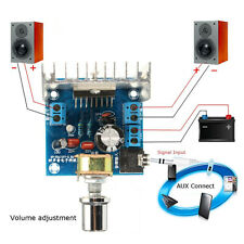 AC/DC 12V TDA7297 2x15W Digital Audio Amplifier DIY Kit Dual-Channel ModuleBBUS