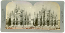 Stereo, Stereo Travel Co., Celebrated Cathedral, Milan, Italy Vintage stereo car