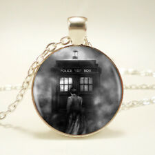 High Quality Silver Long Chain Doctor Who Pendant Necklace Handmade Fashion Gift