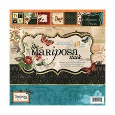 DCWV Premium Stacks, Mariposa Matstack with Glitter and Foil, 48 Sheets, 12 x...