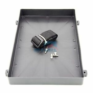 """Plastic Battery Tray with Strap for RV Truck Marine Boat size 12.8"""" * 7.7"""" *  1"""""""