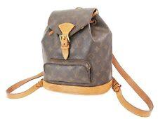 Authentic LOUIS VUITTON Montsouris MM Monogram Backpack Bag #36720