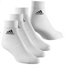 3 PACK Adidas Logo Ankle Lightweight Climalite Sports Socks Men's Women's White
