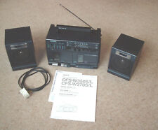 SONY CFS-W350L Dual Cassette Player/Recorder Radio working, 1988, Boombox,Ghetto