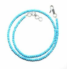 """Turquoise Faceted Rondelle 3-4 mm  Gemstone Beads  Nacklace 16"""" To 36 """""""
