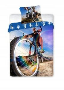 100% Cotton Duvet Cover Pillowcase Set Single Cycling Bike Bedding