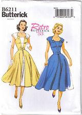 Vtg 50s Retro Rockabilly Pullover Wrap Dress Sewing Pattern Sz 14 16 18 20 22