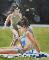Superb James Coates Original Oil Painting - Out In The Summer Sun (British Art)