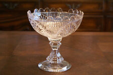 Vintage Clear Glass Candy Dish Container Vase Bowl Glassware Compote Cut Display