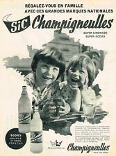 PUBLICITE ADVERTISING    1960   CHAMPIGNEULLES  SIC super limonades soda