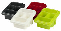Plastic 4 Section Cutlery & Utensil Drainer Holder Sink Tidy Organiser Rack