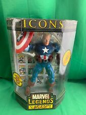 "Toybiz 2006 Marvel Legends Icons 12"" Unmasked Captain America Poseable Action..."