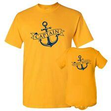 Captain & First Mate - Adult T Shirt & Infant Bodysuit Bundle