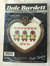 """Vintage Dale Burdett Country Cross Stitch Kit with Heart Frame 4"""" X 5"""""""