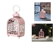 IKEA GOTTGORA Lantern For Candle In Metal Cup Inside Outside Lantern PINK