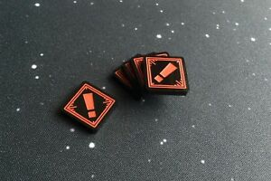 X-Wing 2.0 compatible, acrylic stress tokens - black series