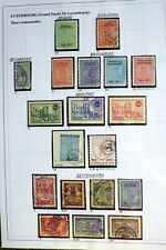 77 rare fiscal LUXEMBOURG revenue - 4 pages - Very nice. LOT A