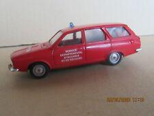 950N 1975'S Solido 22 France Renault 12 Break Pompiers 1:43