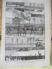 Vintage Print,CONEY ISLAND,Horse,Harpers,July 1887