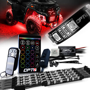 OPT7 ATV UTV LED Lighting Kit All-Colors Body Underbody Light Neon 10 Strips
