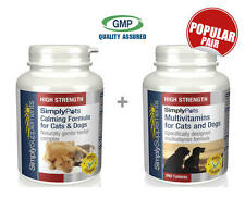 Calming Formula Cats/Dogs 120 Tabs & Multivits for Cats&Dogs 360 Tabs (E336751)
