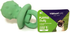 "Multipet Pacifier Shaped 4"" Light Green Latex Exercise Chew Play Squeaky Dog Toy"