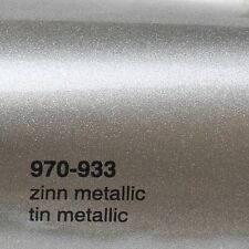 17,09€/m ² 0,5m m x 1 ,52m Oracal 970ra Estaño Metálico Brillo 933 Película Auto