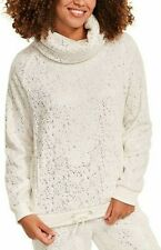 Size UK 8 Figleaves Cosy Foil Cowl Neck Top 754024 Ivory Soft Snuggle