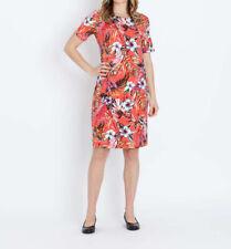 """5.9960 Designer Jersey-Kleid mit Exotik-Druck """"koralle"""" Gr. 46"""