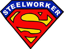 ironworker superman hard hat sticker CIW-23