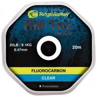 Ridge Monkey RM-Tec 15lb & 20lb Flourocarbon Hooklink Carp Fishing Ridgemonkey