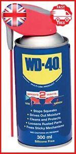 WD-40 Multi Purpose Lubricant Spray Aerosol Smart Straw Stops Squeaks 300ml