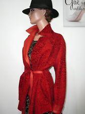 Cerruti Red Real Lambskin Nappa Leather Broadtail Reversible Jacket Belt 10 - 12