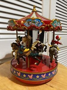 2014 Mr Christmas Disney's Animated Musical Carousel MICKEY MOUSE LED Lights