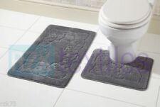 Tappeto WC/bidet da bagno grigio