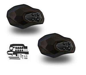 Powermadd Fuzion Series Handguards Guards Black Mount Ski Doo Snowmobile 34505
