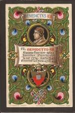 Beautiful Chromo Postcard. Pope Benedictus XII. Early U/B.