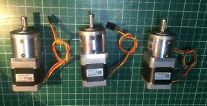3 Stück Nanotec Schrittmotor NEMA 17 ST4118L1804 GPLL40-14 CNC Planetengetriebe