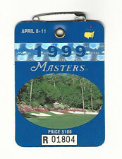 1999 Masters Augusta National Golf Club Badge Ticket Jose Maria Olazabal Win PGA