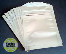 50 Silver 3.5x5 Aluminum/Foil Pouches, Mylar Ziplock Bags, Smell Proof Packaging