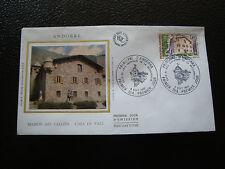 ANDORRE (francais) - enveloppe 1er jour 6/9/1980 (architecture) (cy63) andorra(A