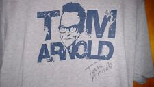 Tom Arnold Autographed T Shirt XL Roseanne Best Damn Sport Show Period Gray